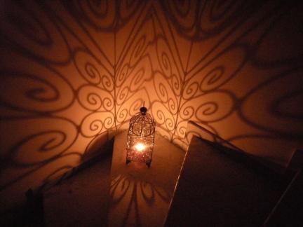 lantern in corner